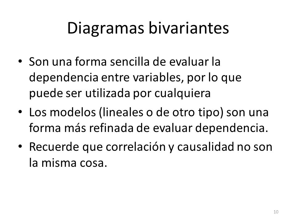 Diagramas bivariantes