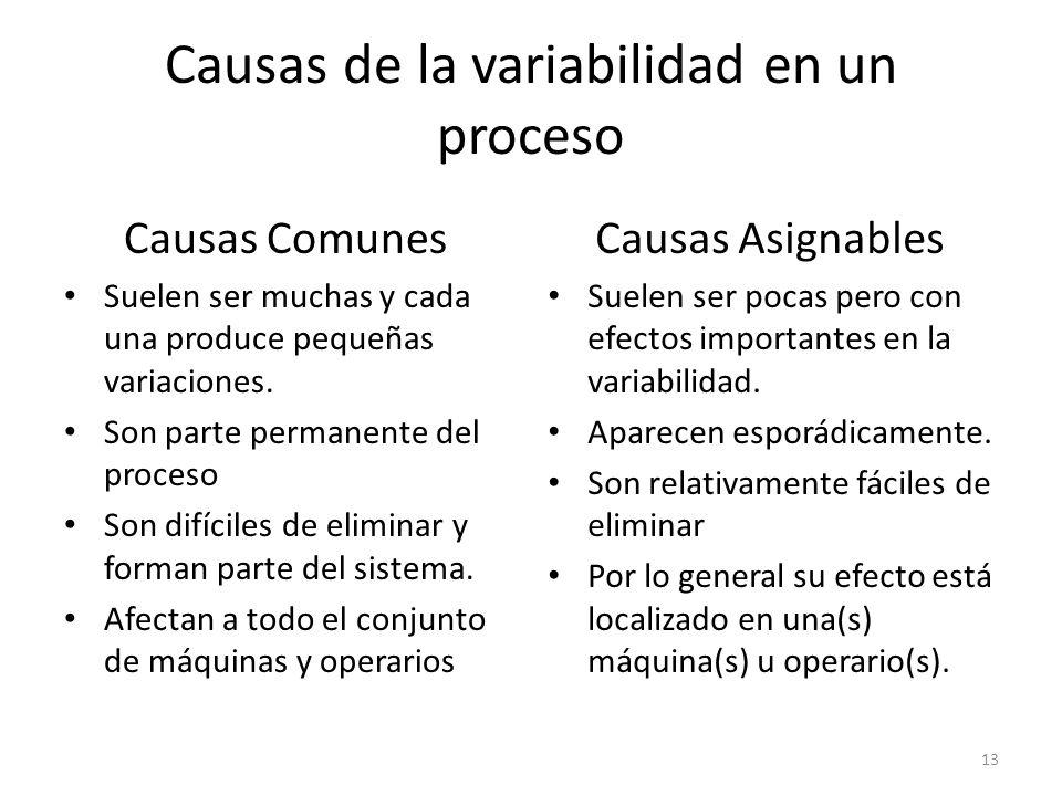Causas de la variabilidad en un proceso