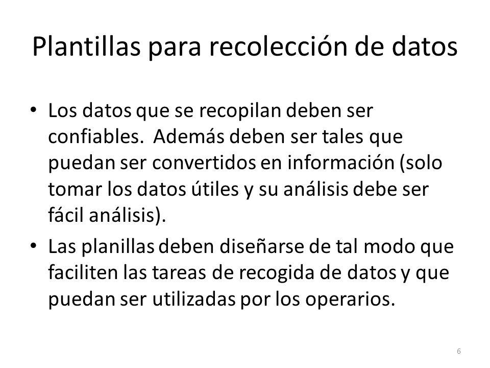 Plantillas para recolección de datos