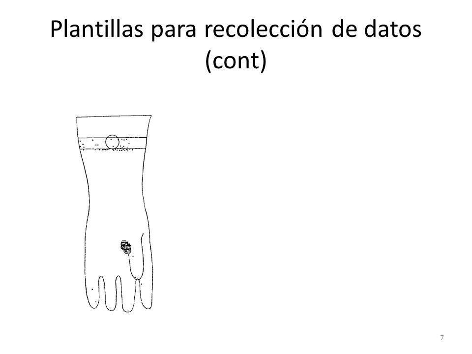 Plantillas para recolección de datos (cont)