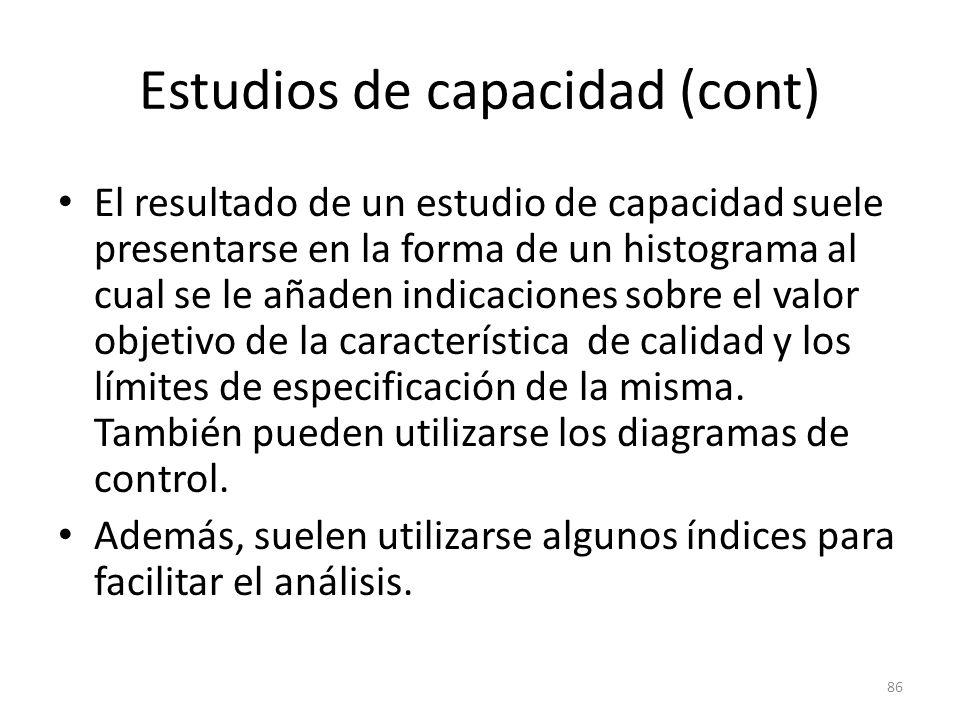 Estudios de capacidad (cont)