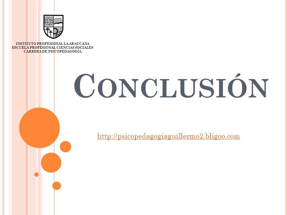 Conclusión http://psicopedagogiaguillermo2.bligoo.com