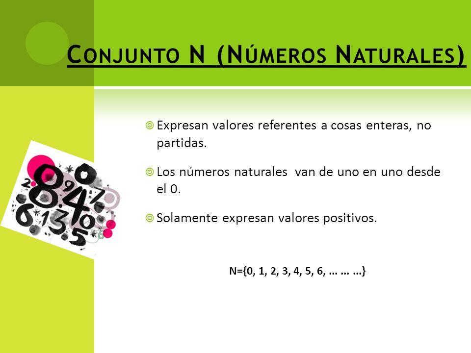 Conjunto N (Números Naturales)