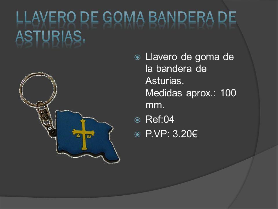 Llavero de goma BANDERA DE ASTURIAS.