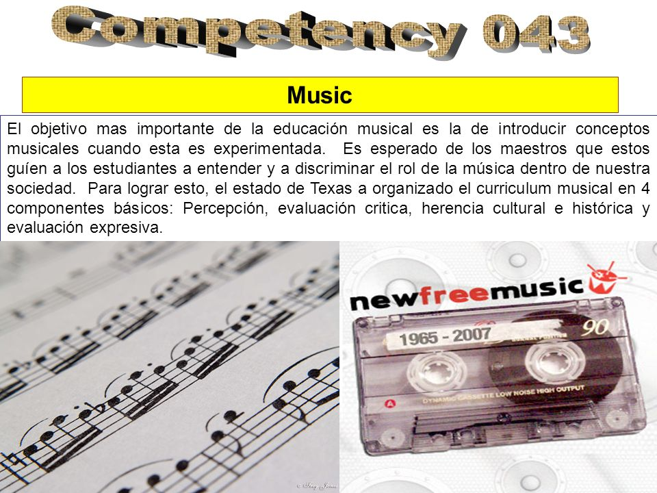 Competency 043Music.