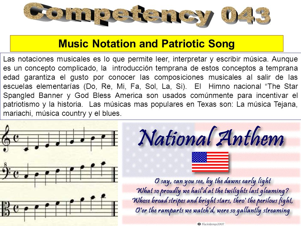 Music Notation and Patriotic Song