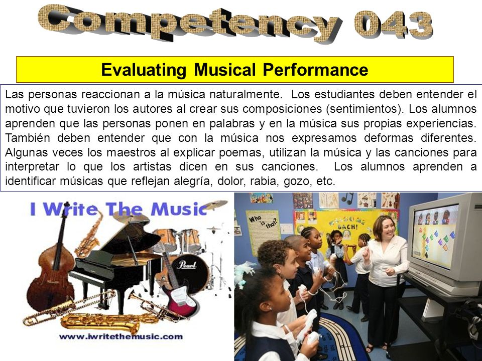 Evaluating Musical Performance