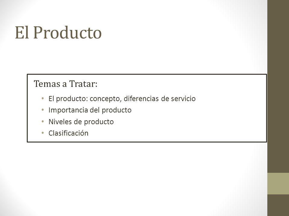 El Producto Temas a Tratar: