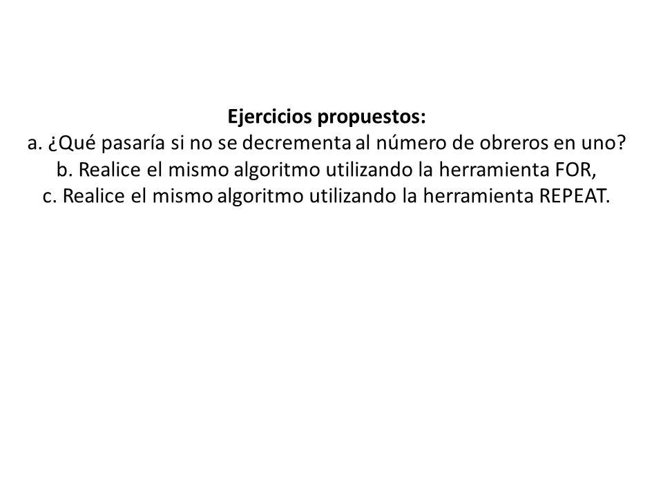 Ejercicios propuestos: a