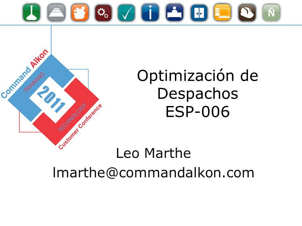 Optimización de Despachos ESP-006