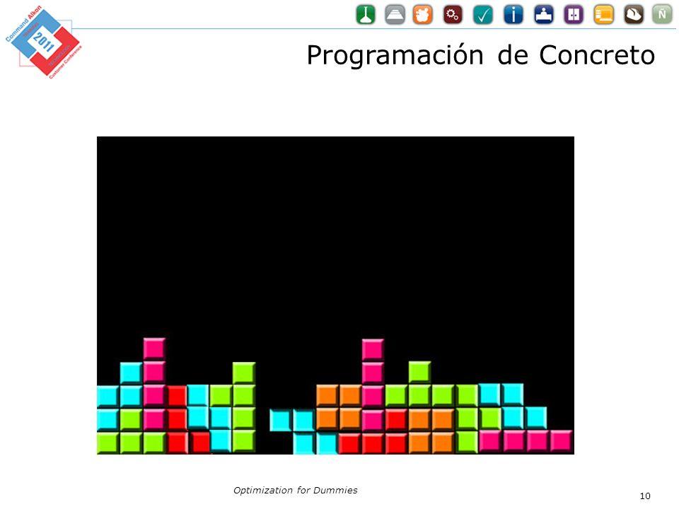 Programación de Concreto
