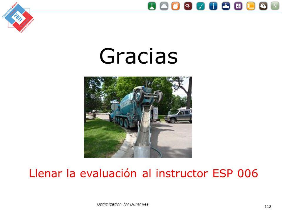Gracias Llenar la evaluación al instructor ESP 006