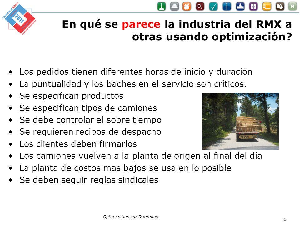 En qué se parece la industria del RMX a otras usando optimización