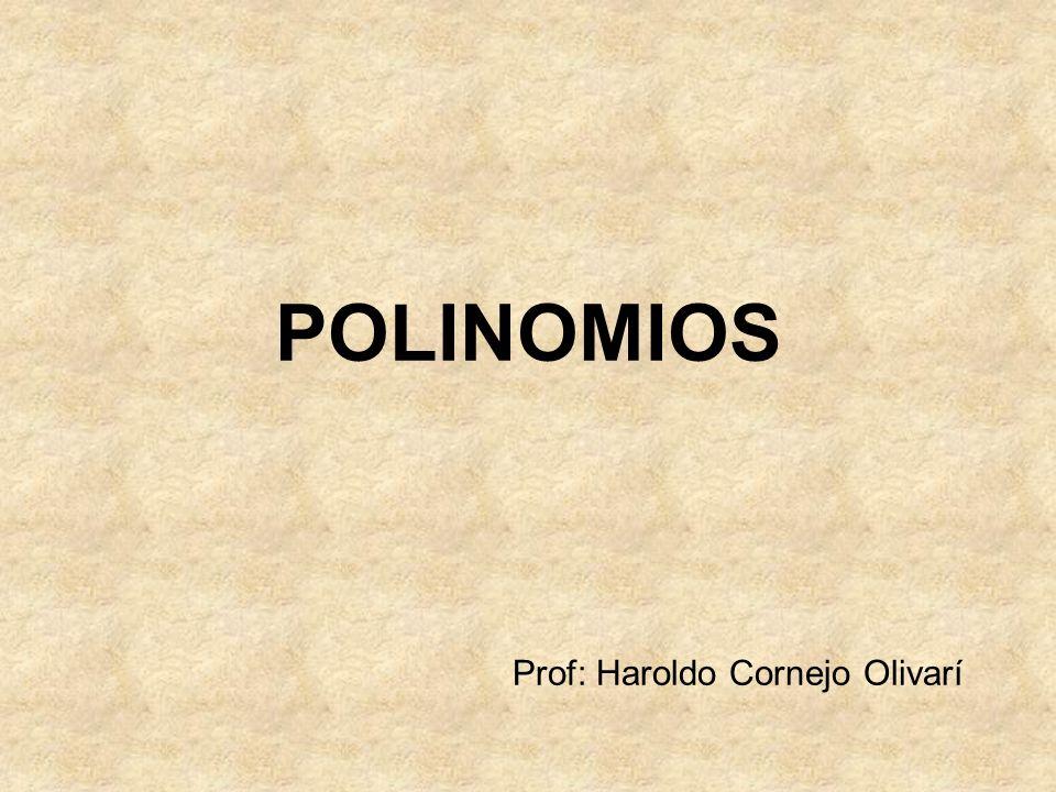 Prof: Haroldo Cornejo Olivarí