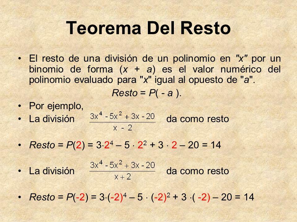 Teorema Del Resto