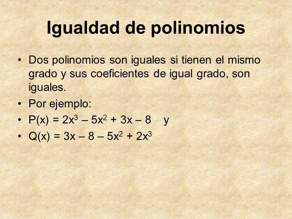 Igualdad de polinomios