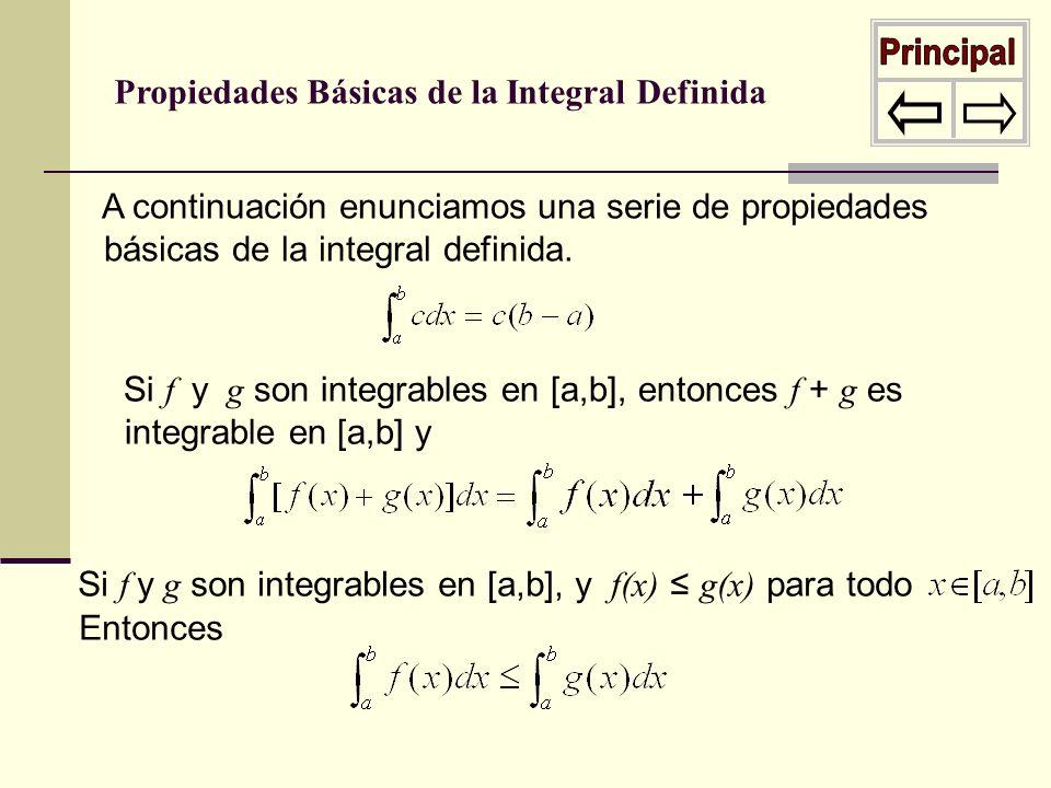 Principal Propiedades Básicas de la Integral Definida