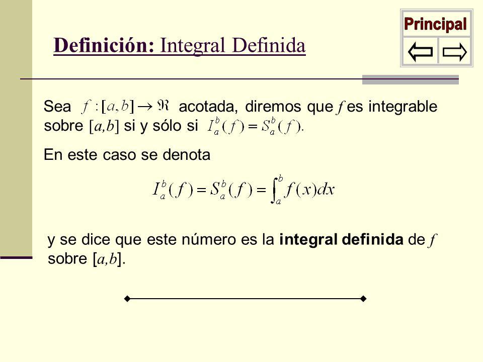 Principal Definición: Integral Definida