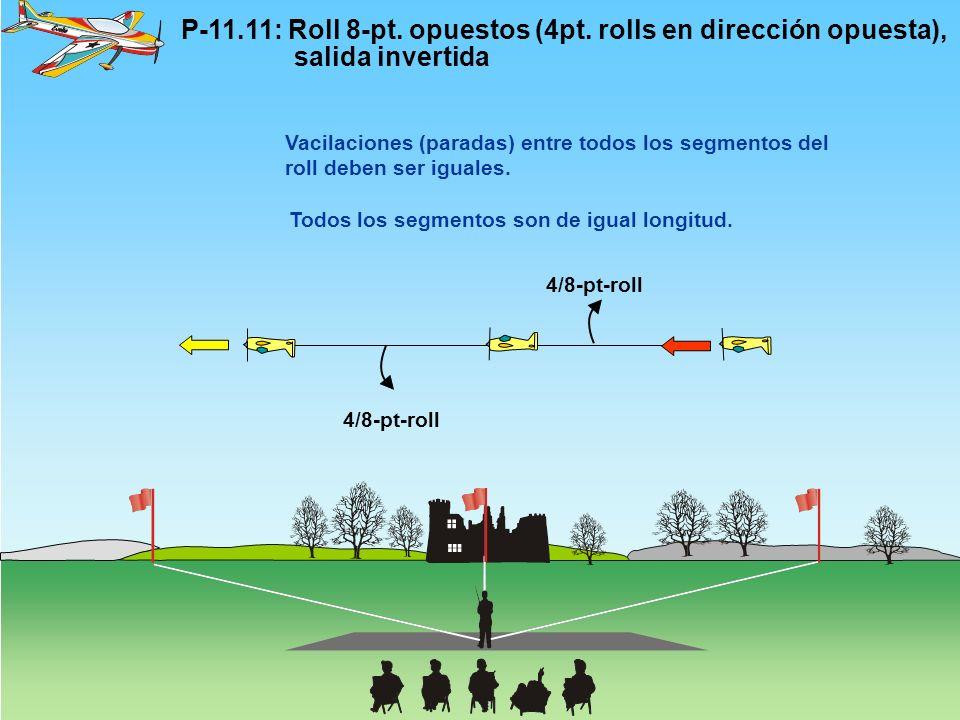 P-11. 11: Roll 8-pt. opuestos (4pt. rolls en dirección opuesta),