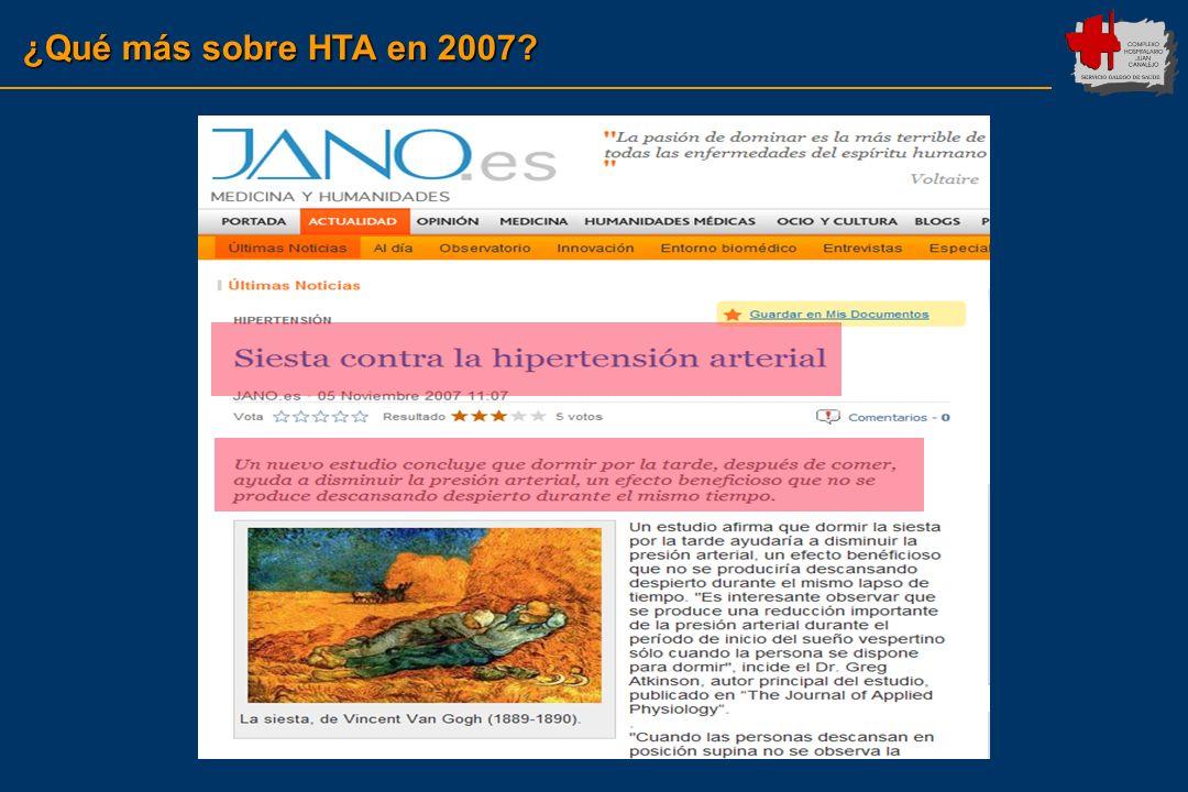 ¿Qué más sobre HTA en 2007