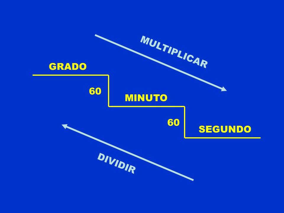 MULTIPLICAR GRADO 60 MINUTO 60 SEGUNDO DIVIDIR