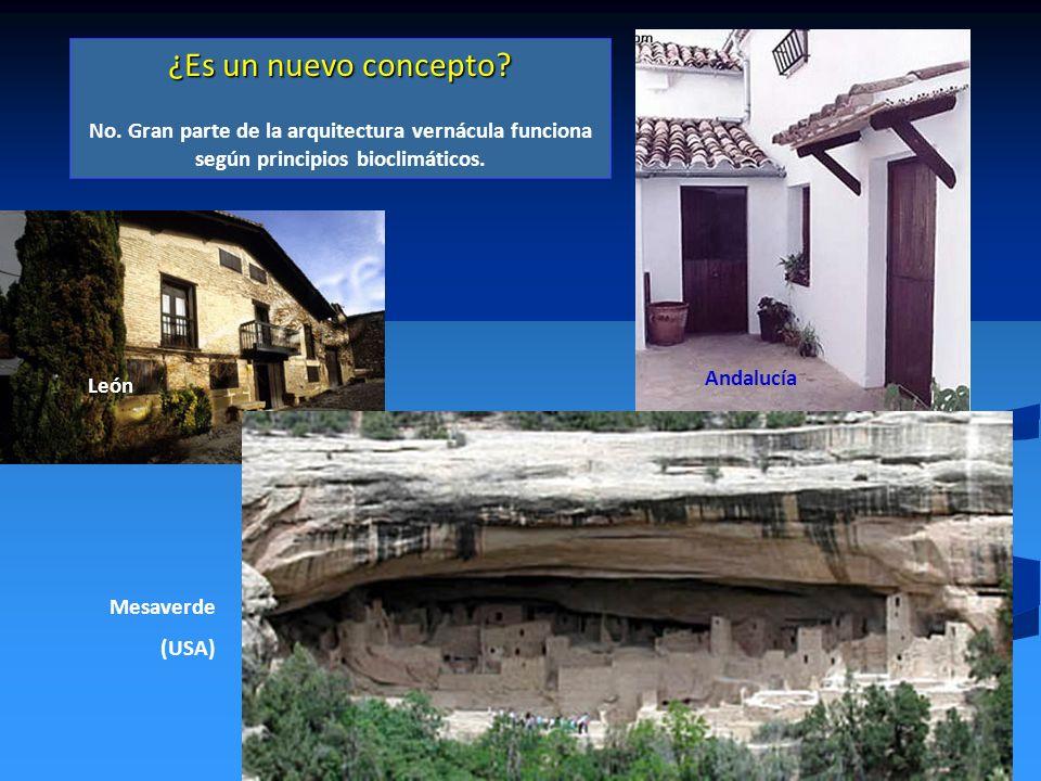 ¿Es un nuevo concepto No. Gran parte de la arquitectura vernácula funciona según principios bioclimáticos.