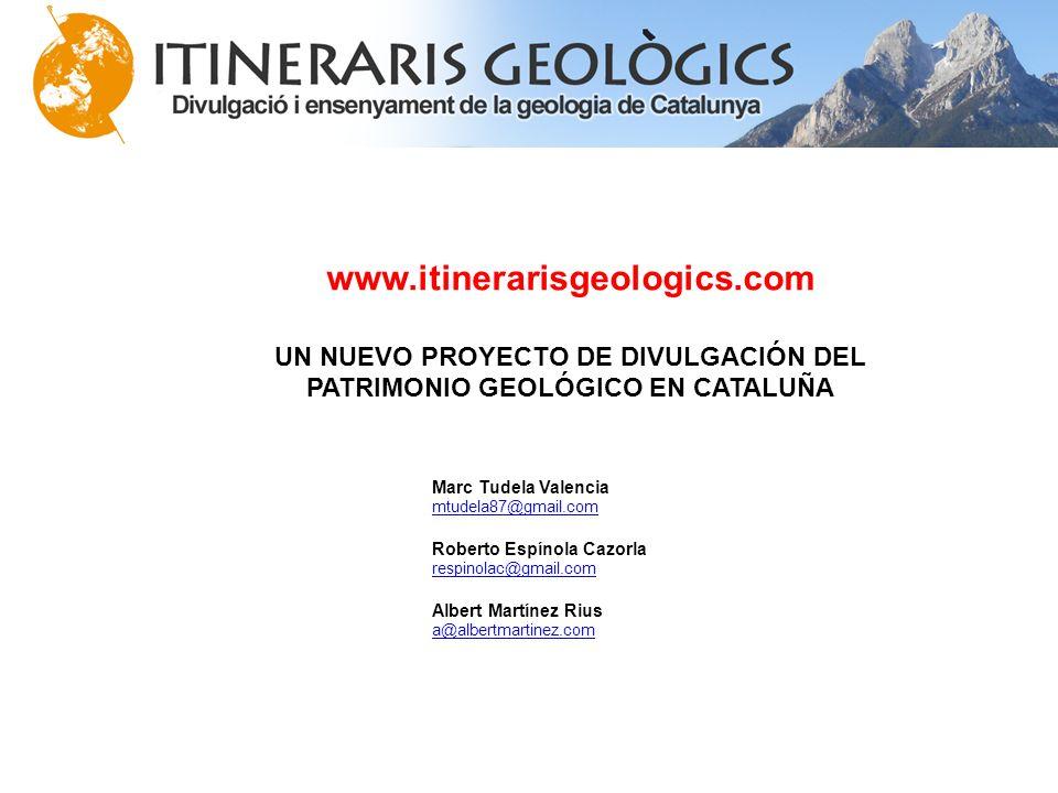 UN NUEVO PROYECTO DE DIVULGACIÓN DEL PATRIMONIO GEOLÓGICO EN CATALUÑA