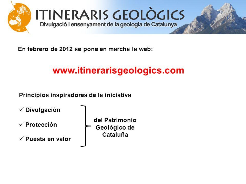 del Patrimonio Geológico de Cataluña