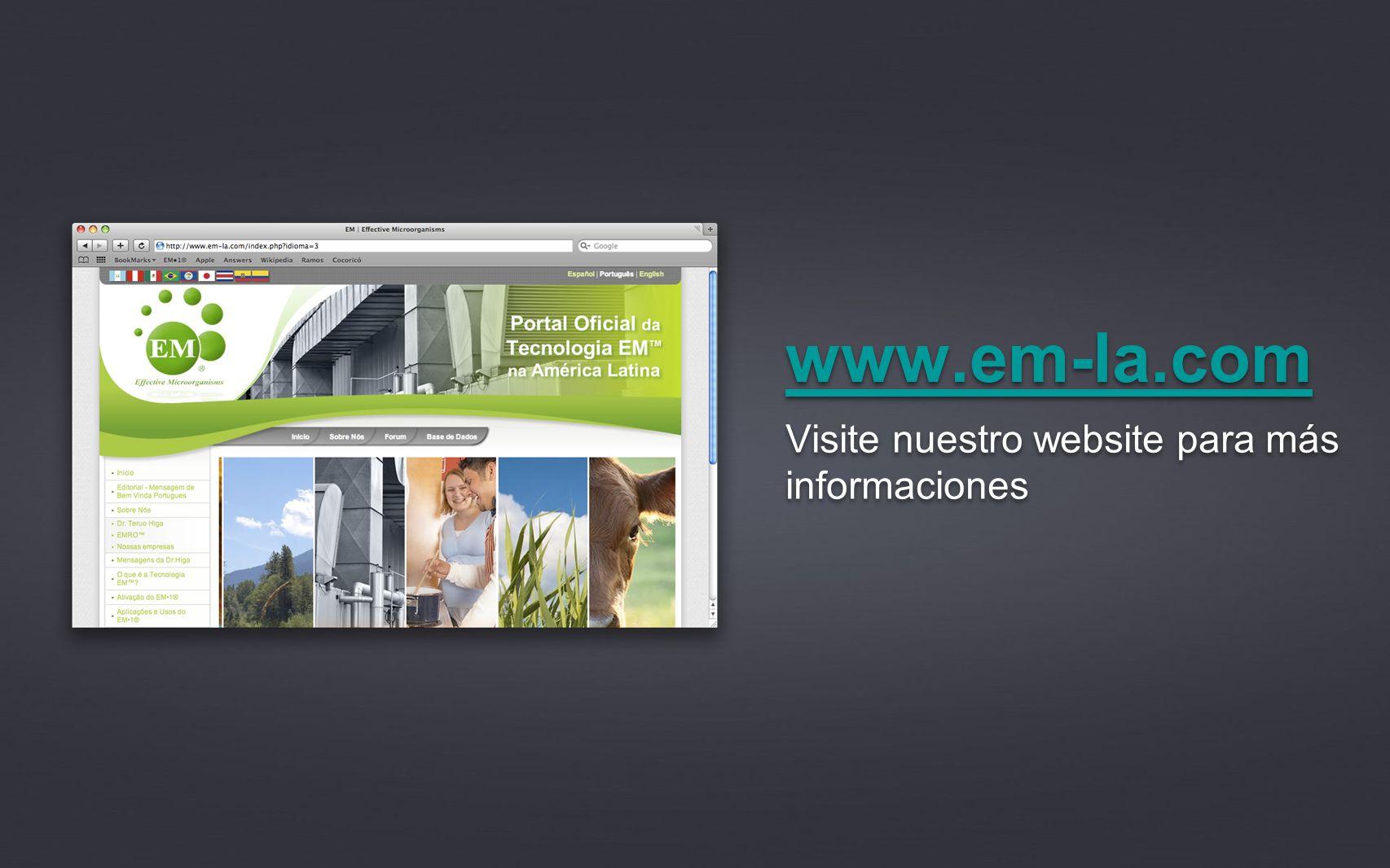 www.em-la.com Visite nuestro website para más informaciones
