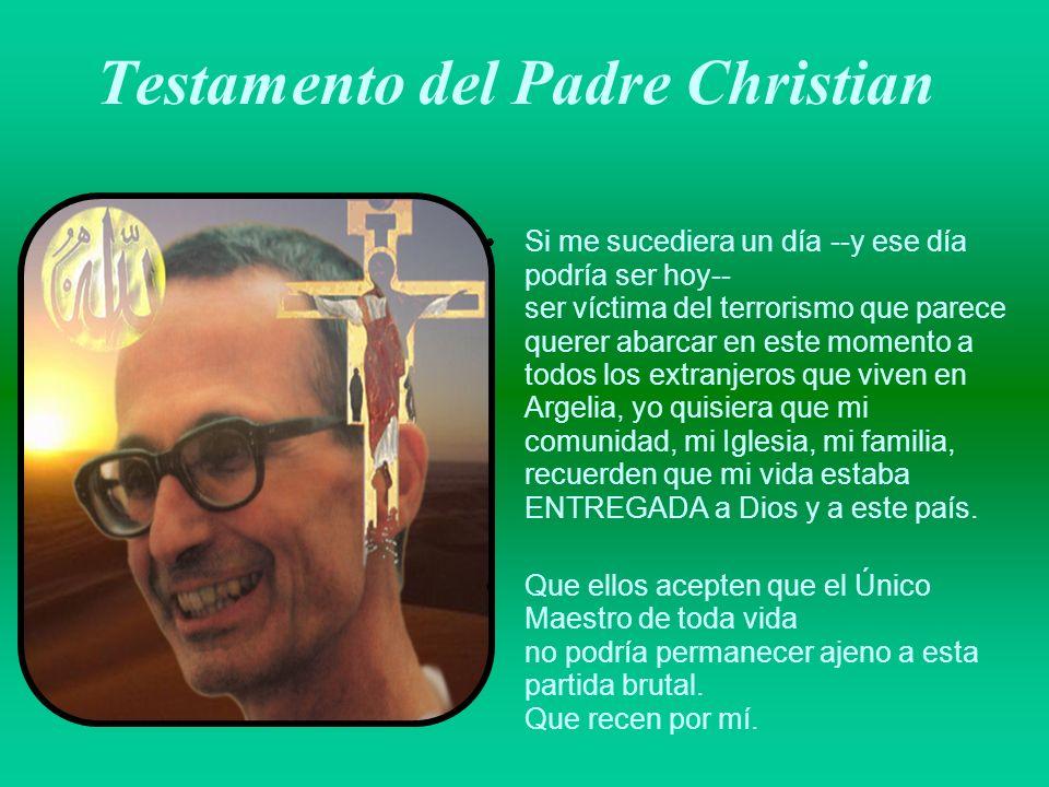 Testamento del Padre Christian