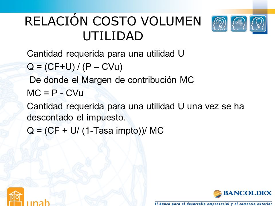 RELACIÓN COSTO VOLUMEN UTILIDAD