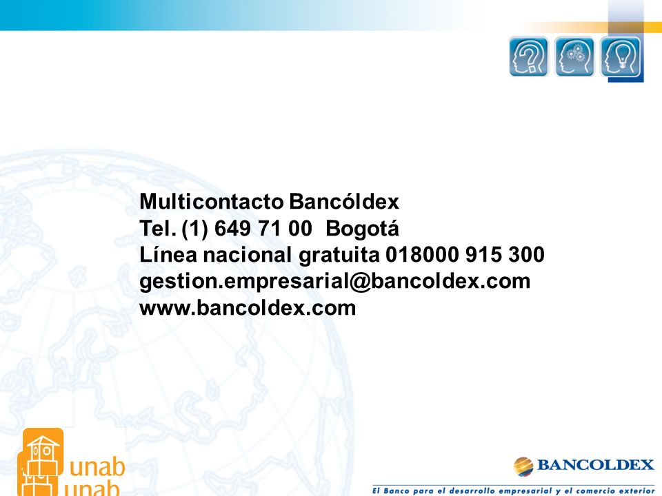 Multicontacto Bancóldex