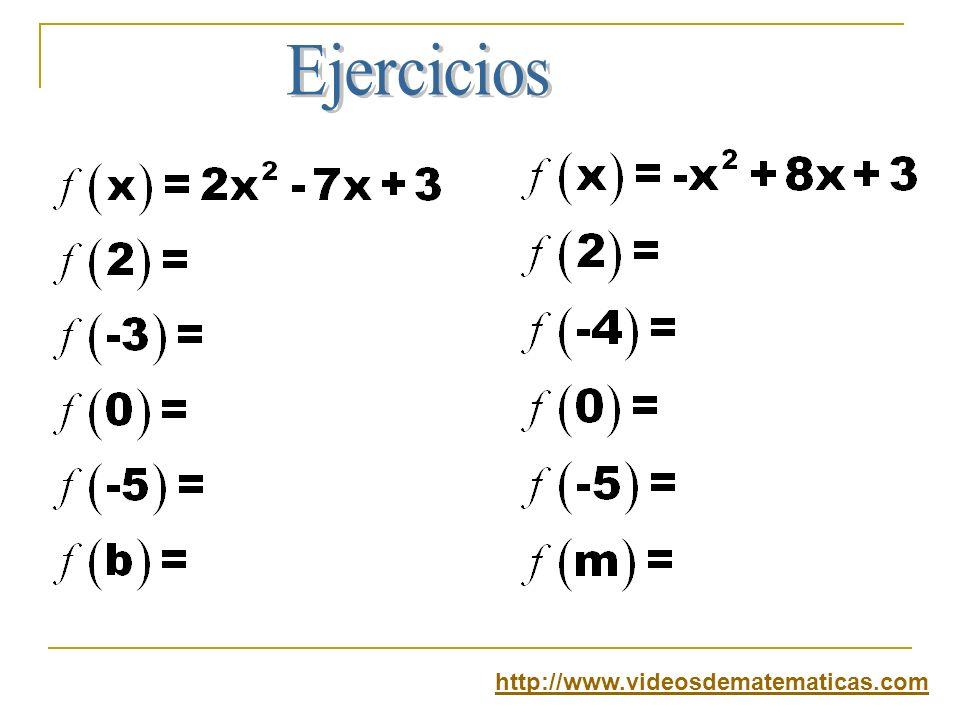 Ejercicios http://www.videosdematematicas.com
