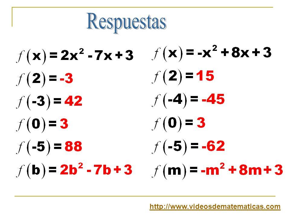 Respuestas http://www.videosdematematicas.com