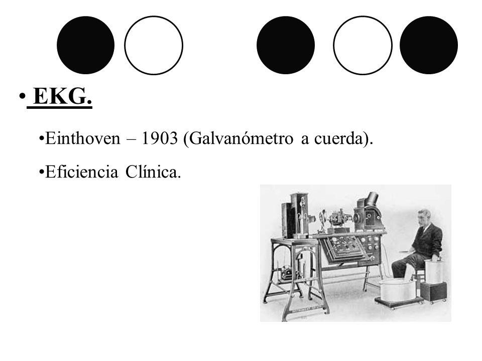 EKG. Einthoven – 1903 (Galvanómetro a cuerda). Eficiencia Clínica.