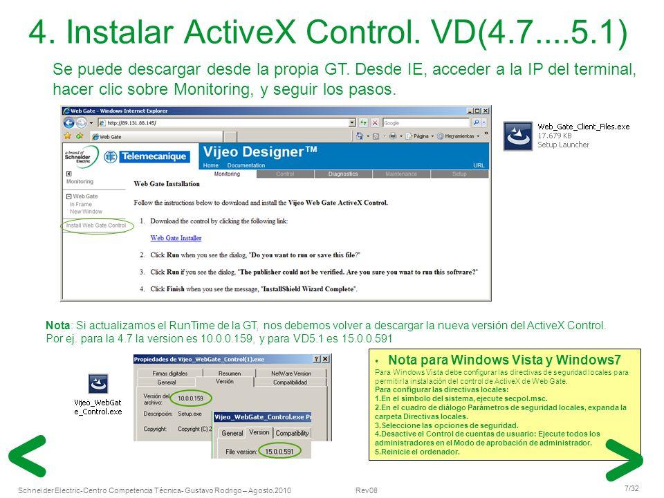 4. Instalar ActiveX Control. VD(4.7....5.1)