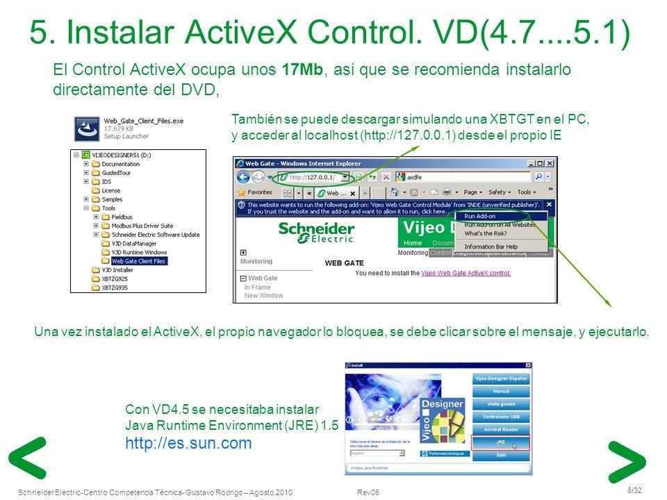 5. Instalar ActiveX Control. VD(4.7....5.1)