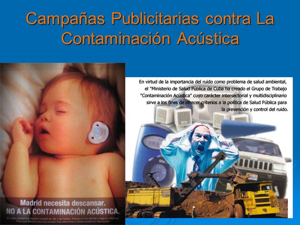 Campañas Publicitarias contra La Contaminación Acústica
