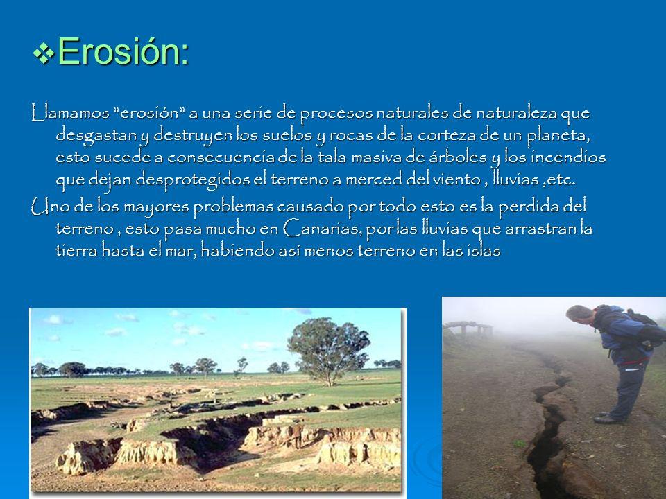 Erosión: