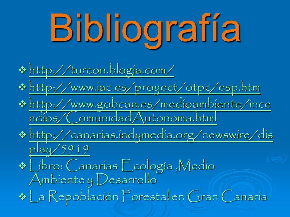 Bibliografía http://turcon.blogia.com/