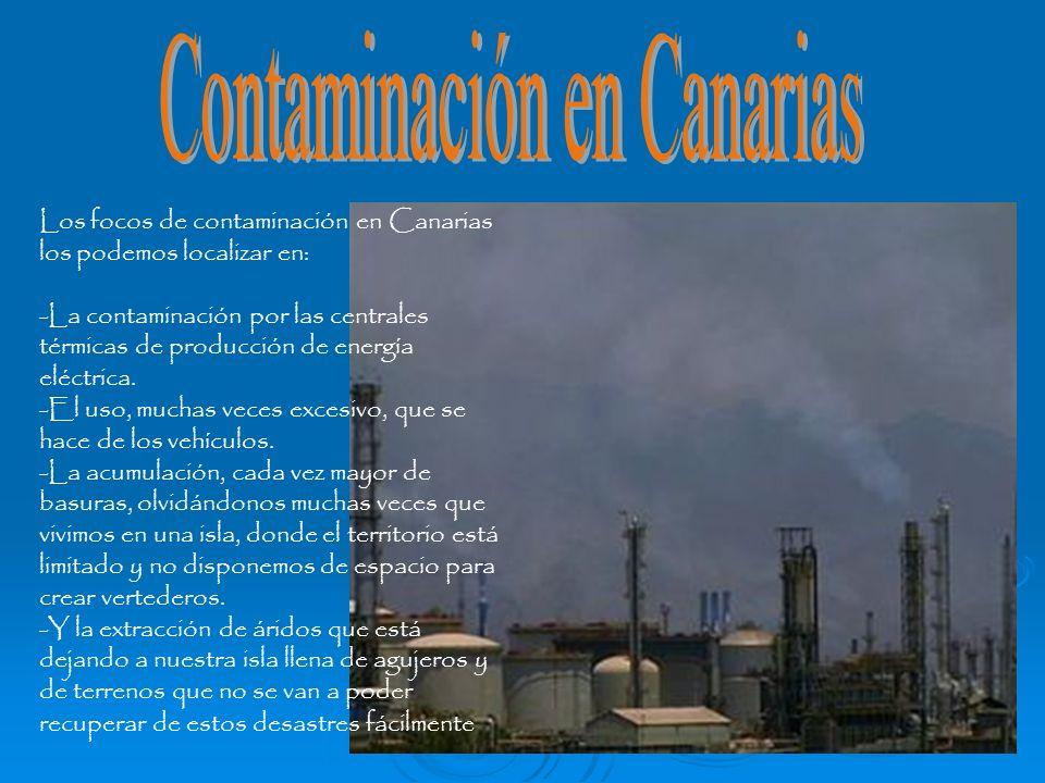 Contaminación en Canarias