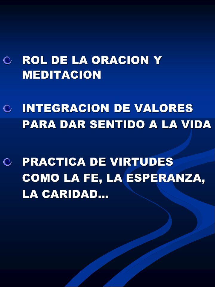 ROL DE LA ORACION Y MEDITACION