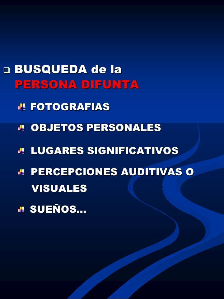 BUSQUEDA de la PERSONA DIFUNTA FOTOGRAFIAS OBJETOS PERSONALES