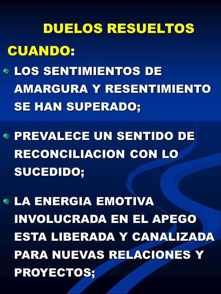 DUELOS RESUELTOS CUANDO: