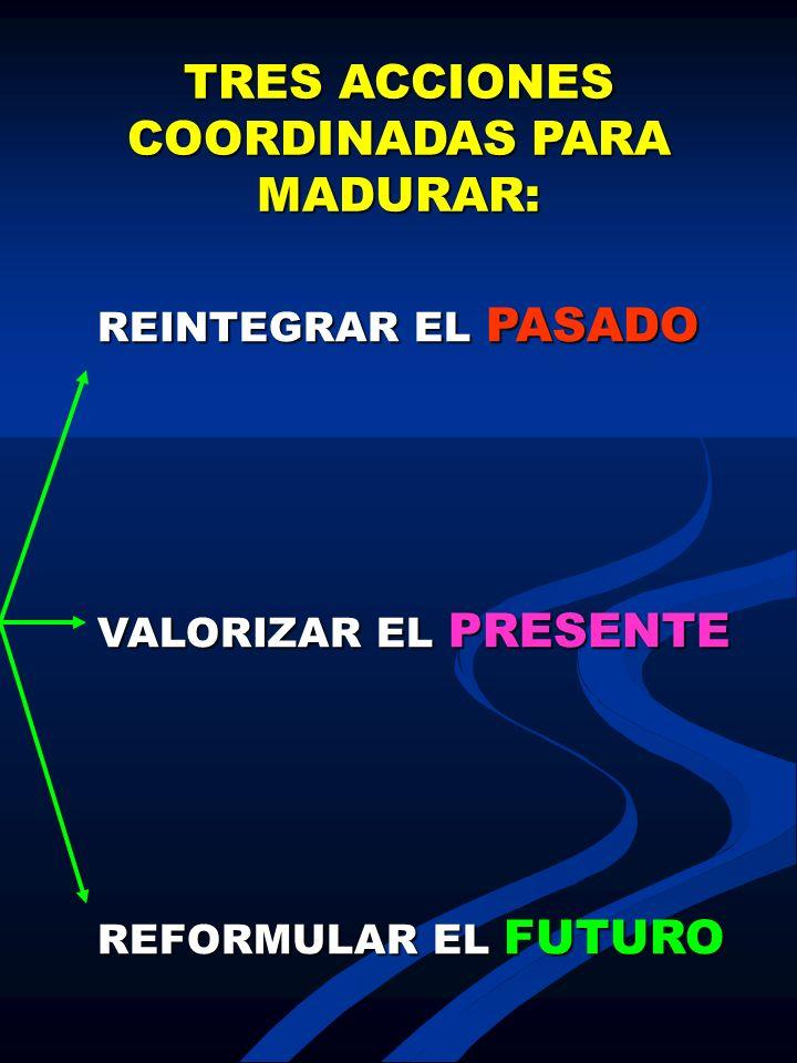 TRES ACCIONES COORDINADAS PARA MADURAR: