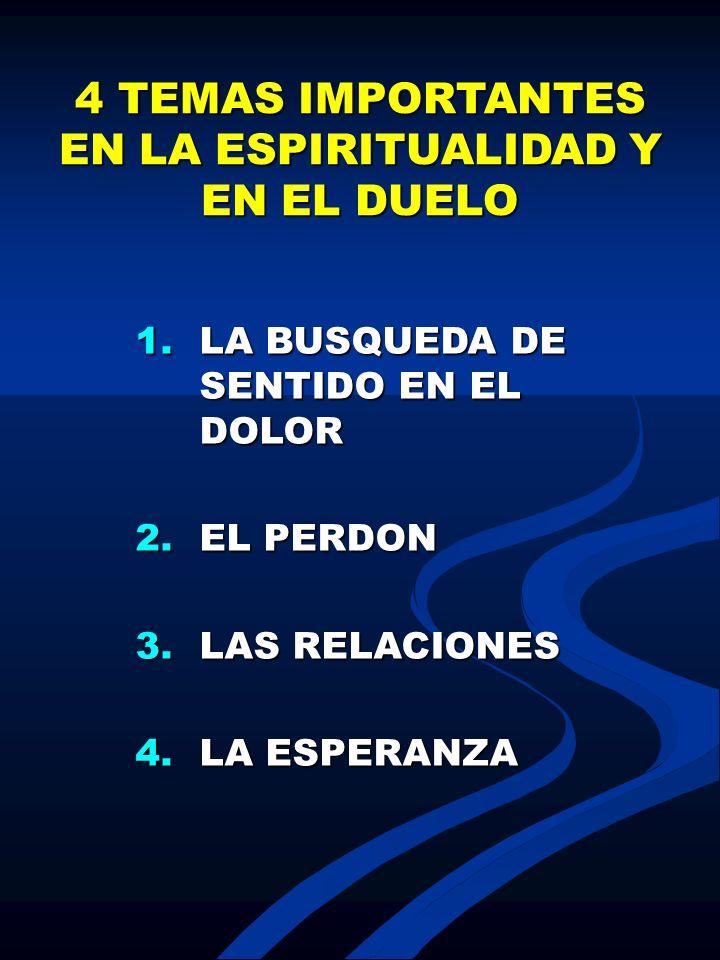 4 TEMAS IMPORTANTES EN LA ESPIRITUALIDAD Y EN EL DUELO