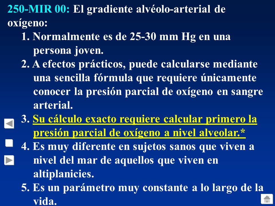 250-MIR 00: El gradiente alvéolo-arterial de oxígeno: