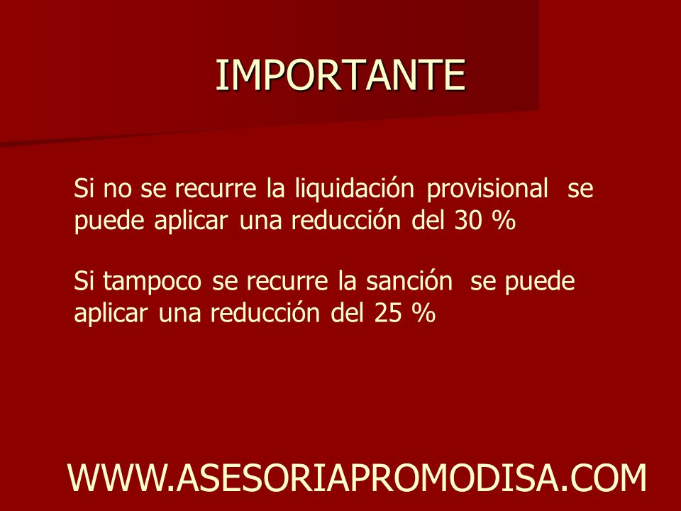 IMPORTANTE WWW.ASESORIAPROMODISA.COM