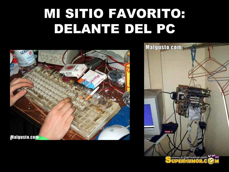 MI SITIO FAVORITO: DELANTE DEL PC