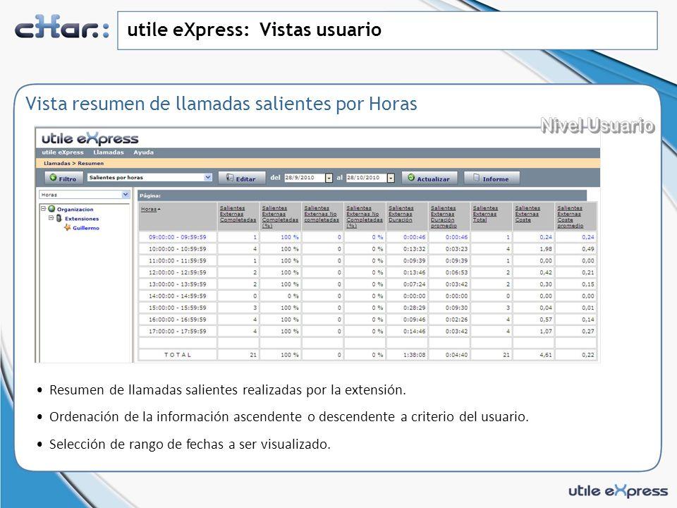 utile eXpress: Vistas usuario